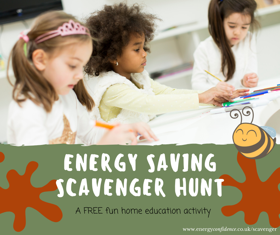 Energy saving scavenger hunt – FREE home education activity